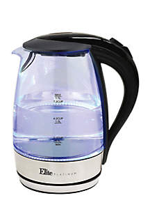 Platinum 1.7 Liter Glass Cordless Electric Kettle