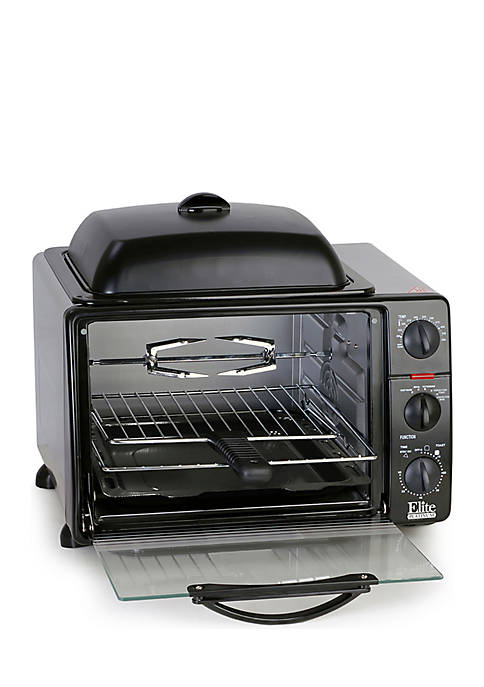 Elite Toaster Oven Rotisserie Grill Griddle Top