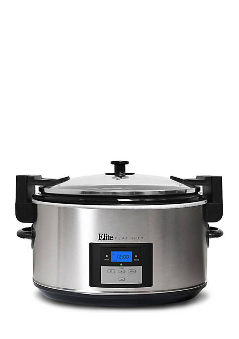 Elite 8.5-Quart Programmable Slow Cooker with Locking Lid