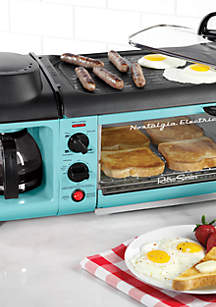 Nostalgia Retro Series 3-in-1 Powerful Family Size Breakfast Station