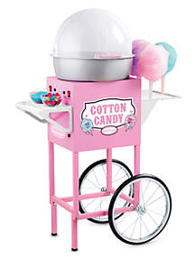 Nostalgia 50-Inch Tall Vintage Series Commercial Hard & Sugar-Free Candy Cotton Candy Cart