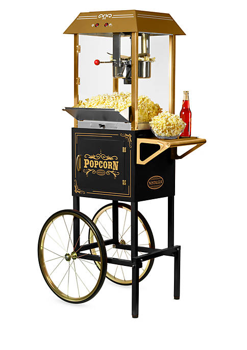 Nostalgia 59-In. Tall Commercial 10-Ounce Kettle Popcorn Cart