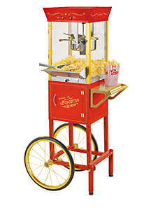 Nostalgia 53-In.Tall Commercial 6 oz Kettle Popcorn Cart - CCP510