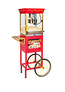 Nostalgia Nostalgia CCP610 Vintage 10-Ounce Professional Popcorn & Concession Cart - 59 Inches Tall