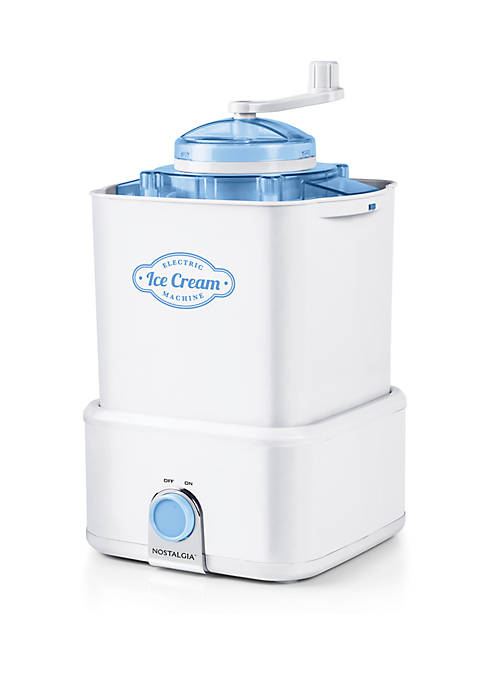 Electric Ice Cream Maker with Candy Crusher