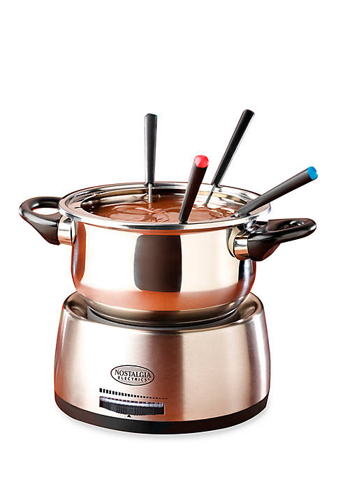 6 Cup Stainless Steel Electric Fondue Pot