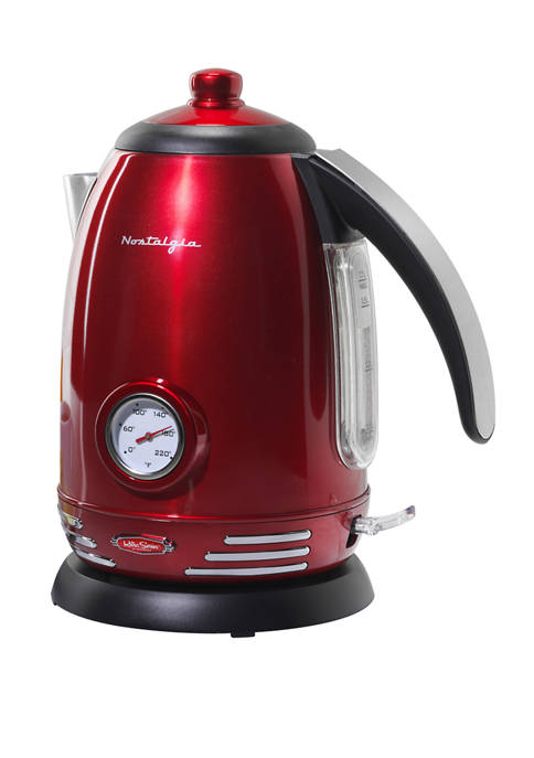 Nostalgia 1.7 Liter Stainless Steel Electric Water Kettle