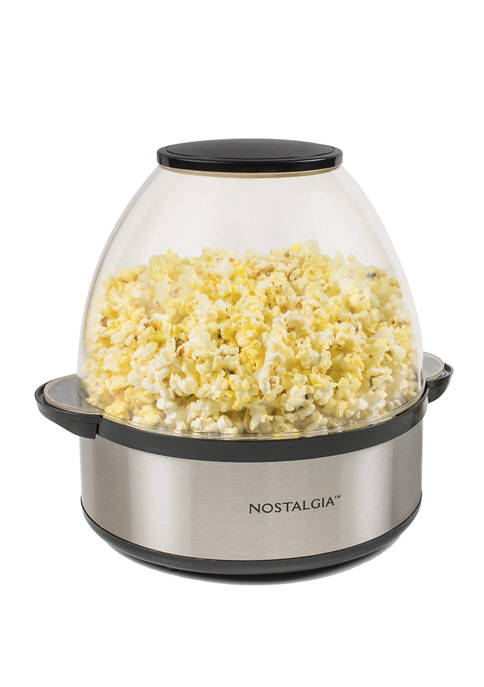 Nostalgia 6 Quart Stainless Steel Stirring Speed Popcorn