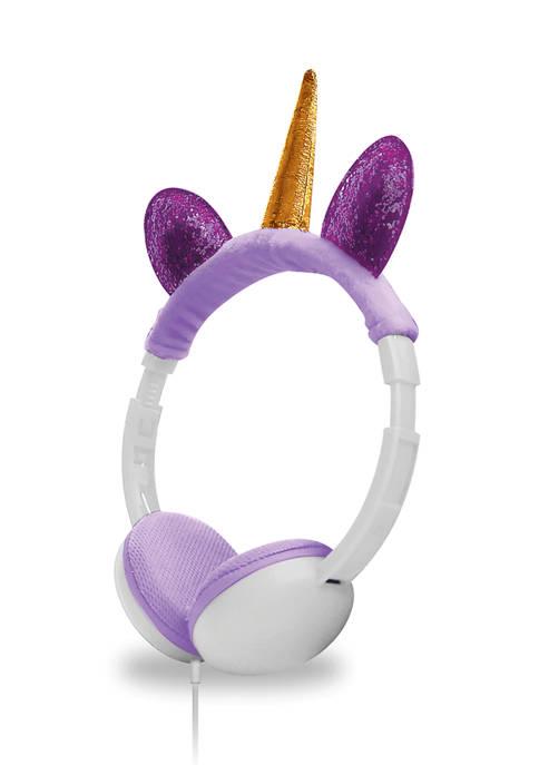 Art + Sound Kids Fuzzy Unicorn Headphones