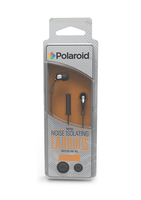 Noise Isolating Earbuds with In-Line Mic
