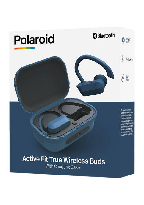 Active Fit True Wireless Earbuds with Charging Case
