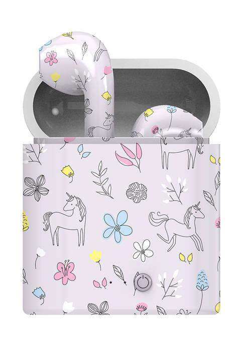 Unicorn Print True Wireless Earbuds