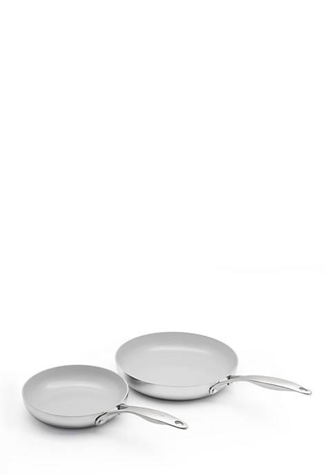 Venice Pro 8-inch and 10-inch Ceramic Non-Stick Open Frypan Set