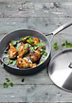 Paris Pro 4-QT Ceramic Non-Stick Covered Saute Pan with Helper Handle