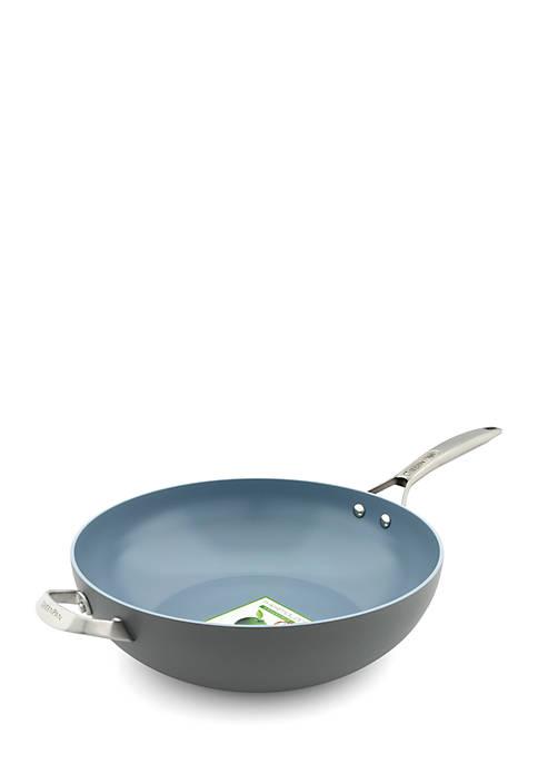 Greenpan Paris Pro 12.5-inch Ceramic Non-Stick Open Wok