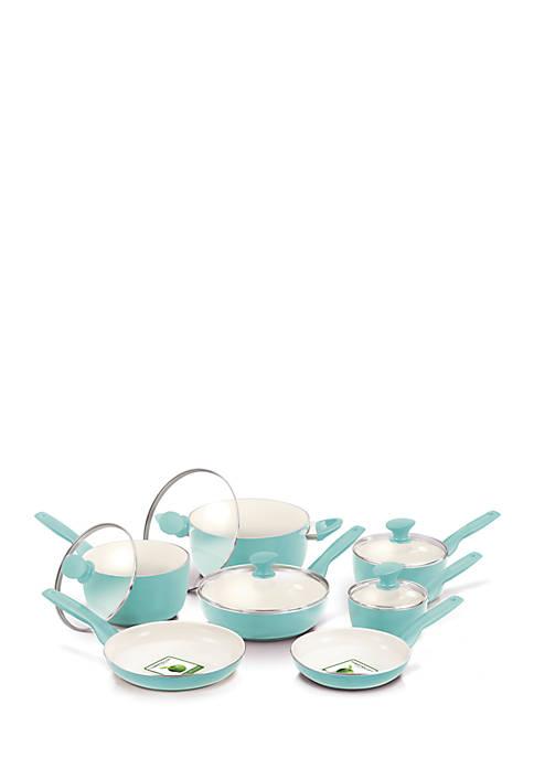 Rio Ceramic Non-Stick 12 Piece Cookware Set