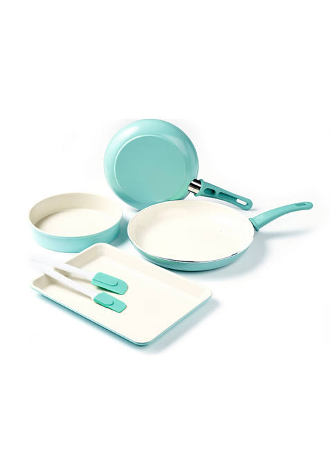 GreenLife 6-Piece Soft Grip Cookware and Bakeware Set