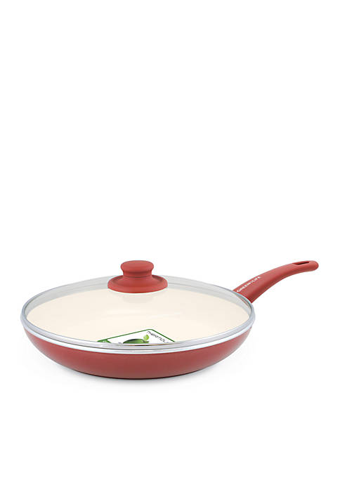 GreenLife Soft Grip Ceramic Non-Stick Covered Frypan