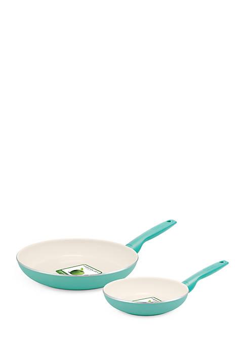 Rio 8-inch and 10-inch Ceramic Non-Stick Frypan Set