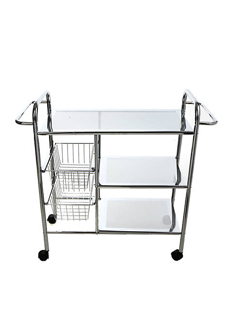 MindReader 3-Tier Cart with Wire Baskets