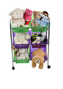 MindReader 6-Drawer Rolling Toy Organizer
