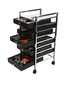 Metal Binding Eight-Drawer Trolley