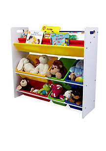MindReader Fabric Sling Book Shelf and Toy Organizer