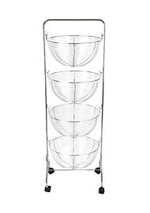 4-Tier Wire Rolling Cart