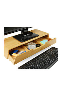 Eco-Friendly Monitor Stand with Drawer