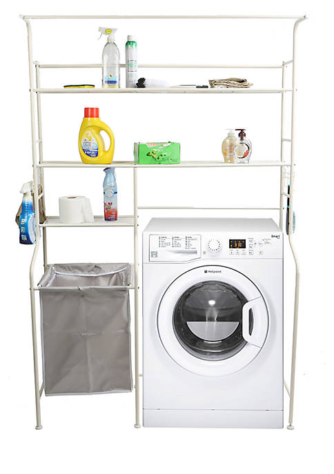 MindReader Washing Machine Shelf and Rack with Hooks
