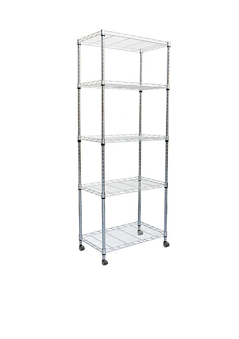 MindReader Mind Reader 4-Tier Metal Storage Rack Shelving