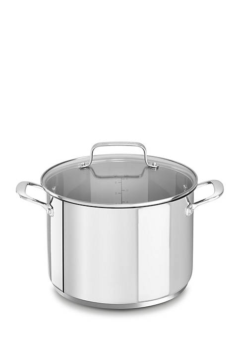 KitchenAid® Stainless Steel 8-qt. Stockpot with Lid KC2S80SCLS