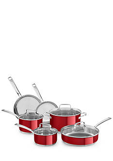 KitchenAid® 10-Piece Stainless Steel Cookware Set KC2SS10PC