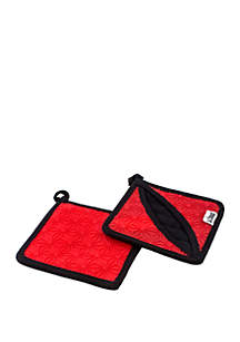 Lodge® Red Silicone and Fabric Pot Holder/Trivet