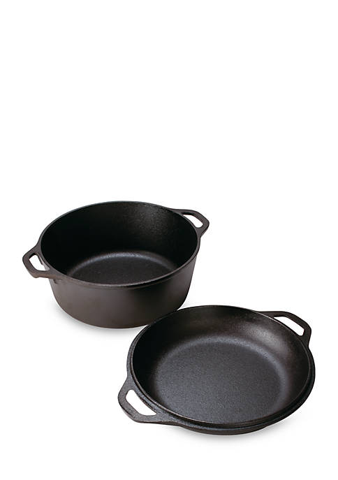5-qt. Cast Iron Double Dutch Oven
