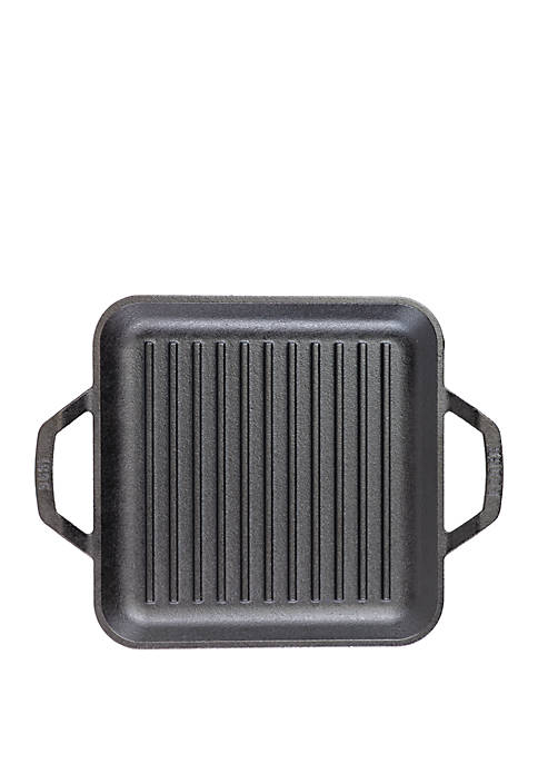11 in Square Cast Iron Chef Style Grill Pan