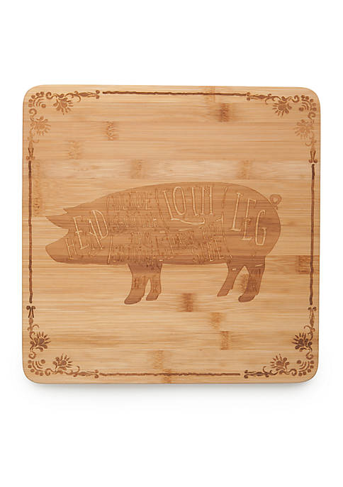 Cooks Tools™ Pig Bamboo Cutting Board