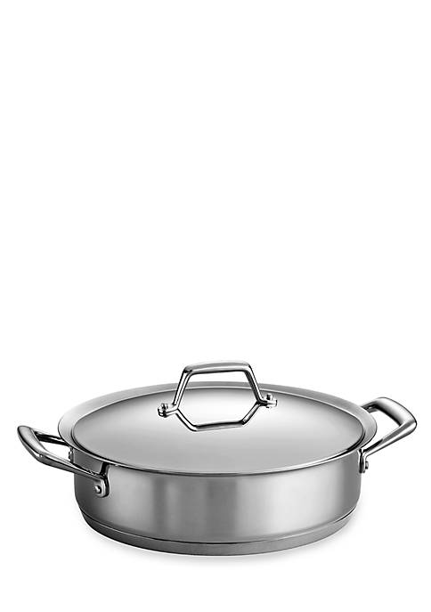 Gourmet Prima 5-qt. Stainless Steel Tri-Ply Base Casserole - Online Only