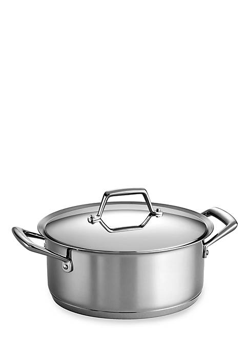 Gourmet Prima 5-qt. Stainless Steel Tri-Ply Base Covered Dutch Oven - Online Only
