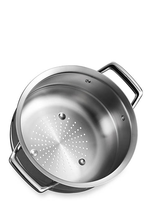 Gourmet Prima Stainless Steel Tri-Ply Steamer Insert for 3-qt. and 4-qt. Saucepan - Online Only