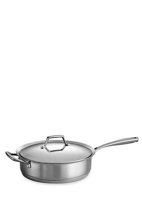 Gourmet Prima 5-qt. Stainless Steel Tri-Ply Base Deep Saute Pan - Online Only
