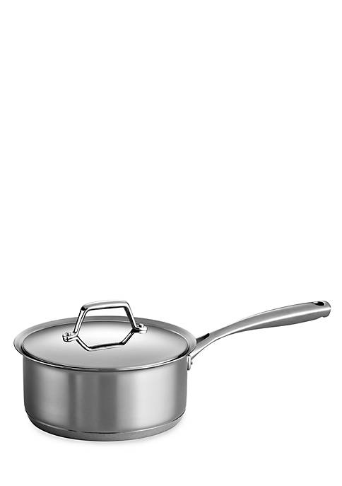 Gourmet Prima 3-qt. Stainless Steel Tri-Ply Base Covered Saucepan