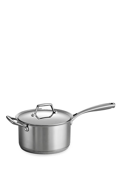Gourmet Prima 4-qt. Stainless Steel Tri-Ply Base Saucepan - Online Only