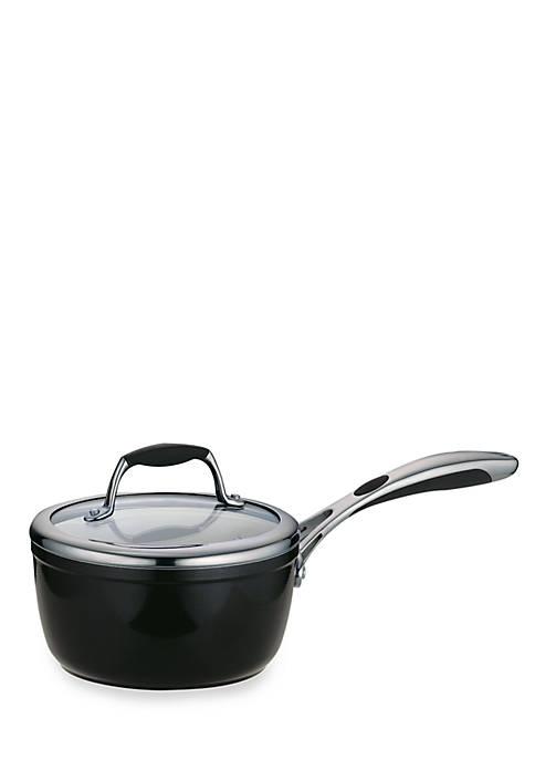 Gourmet 1.5-qt. Metallic Black Ceramica 01 Deluxe Covered Saucepan