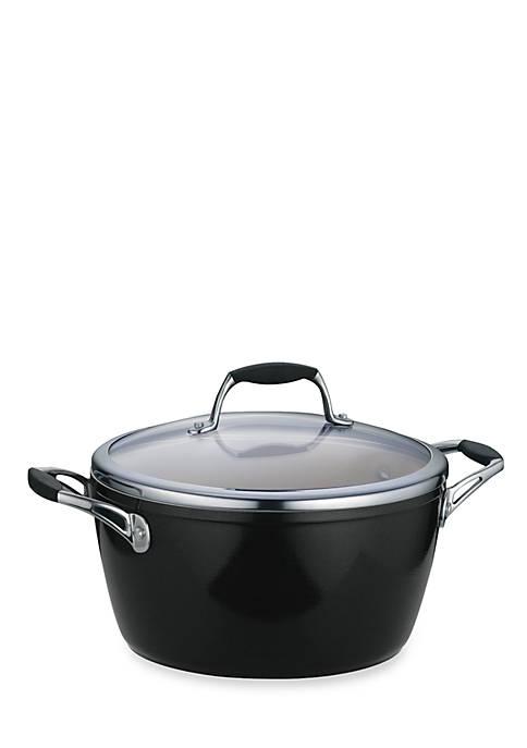 Gourmet 5-qt. Metallic Black Ceramica 01 Deluxe Covered Dutch Oven - Online Only