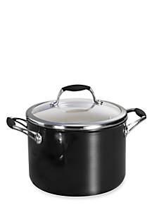 Gourmet 6-qt. Metallic Black Ceramica 01 Deluxe Covered Sauce Pot - Online Only