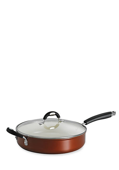 Style 11-in. Metallic Copper Ceramica 01 Covered Deep Skillet - Online Only