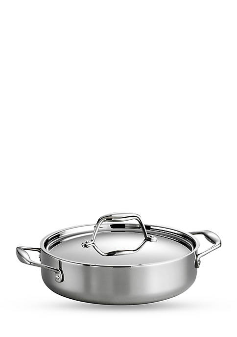 Gourmet Stainless Steel Induction-Ready 3-qt. Covered Braiser