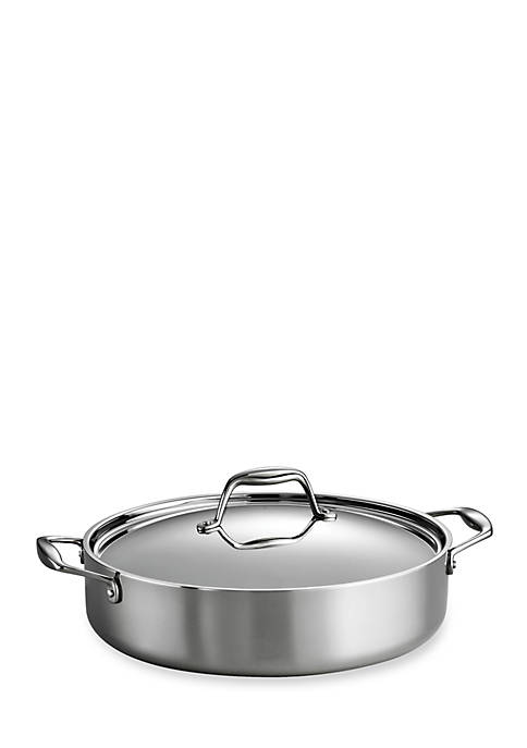Gourmet Tri-Ply Clad 18/10 Stainless Steel Induction-Ready 5-qt. Covered Braiser - Online Only
