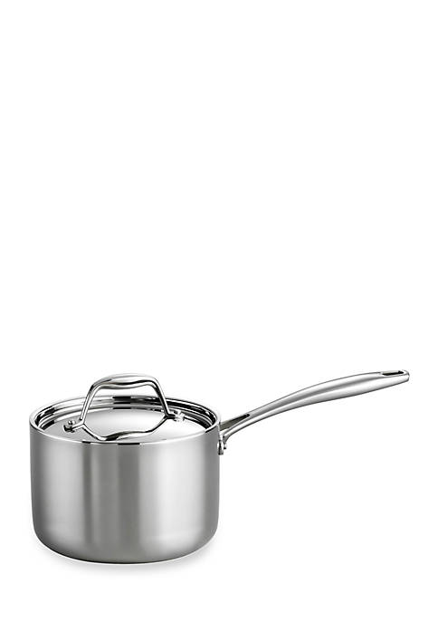 Gourmet Stainless Steel Induction-Ready 2-qt. Covered Saucepan